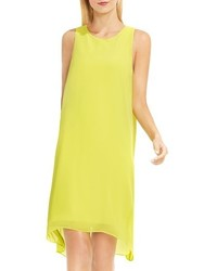 Vince Camuto Sheer Overlay Shift Dress