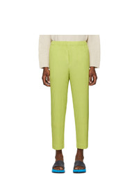 Homme Plissé Issey Miyake Green Pleated Trousers