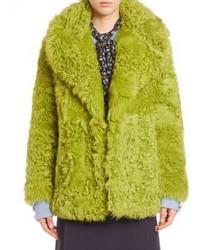 Michael Kors Michl Kors Collection Open Front Long Sleeve Coat