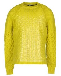 Green-Yellow Crew-neck Sweater