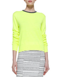 A.L.C. Margo Contrast Collar Knit Sweater