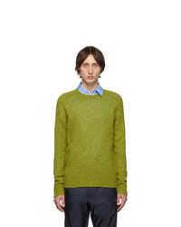 Prada Green Raglan Crewneck Sweater
