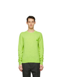 Acne Studios Green Wool Patch Sweater