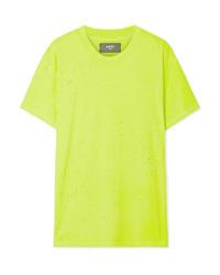Amiri Shotgun Distressed Supima Cotton Jersey T Shirt