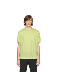 Z Zegna Yellow Merino Tech T Shirt