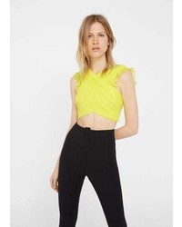 Mango Wrap Crop Top