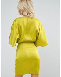 e4fefffae93a Asos Petite Petite Kimono Front Mini Dress, $60   Asos   Lookastic.com