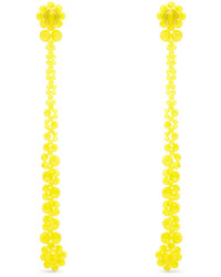 Simone Rocha Crystal Flower Drop Earrings