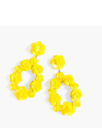 J.Crew Leather Backed Sequin Petal Earrings
