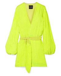 Retrofête Gabrielle Med Sequined Chiffon Mini Wrap Dress