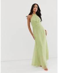 ASOS DESIGN Maxi Dress With High Neck And Drape Waist Detail