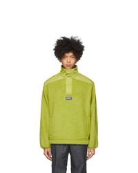 Napa By Martine Rose Green T Crantock Fleece Zip Pullover