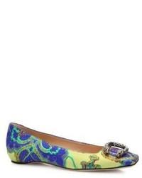 Gucci Dionysus Floral Jacquard Ballet Flats