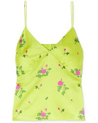 BERNADETTE Floral Print Silk Satin Camisole