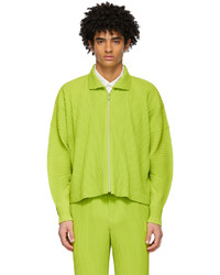 Homme Plissé Issey Miyake Green Monthly Color January Jacket