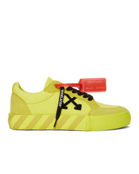 Off-White Yellow Low Vulcanized Sneaker