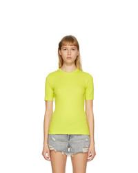 Rag and Bone Green The Rib Slim T Shirt