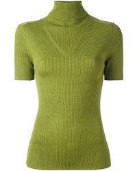 P.A.R.O.S.H. Ribbed Turtleneck Knitted Top