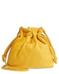 Clare Vivier Clare V Petit Henri Leather Bucket Bag Brown