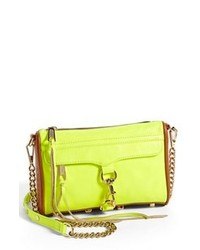 Green-Yellow Leather Clutch