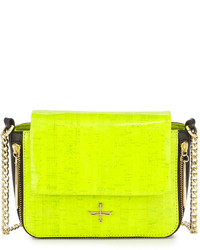 Green-Yellow Leather Crossbody Bag