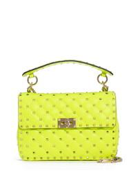 Valentino Garavani Medium Spike Leather Shoulder Bag