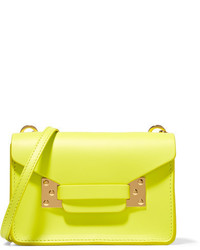 Milner nano neon leather shoulder bag bright yellow medium 954131
