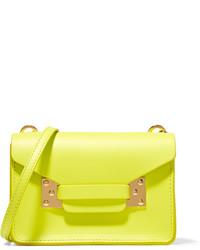 Sophie Hulme Milner Nano Neon Leather Shoulder Bag Bright Yellow