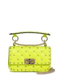 Valentino Garavani Mini Spike It Neon Leather Shoulder Bag