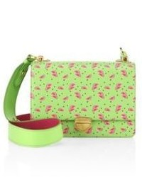 Prada Watermelon Saffiano Leather Crossbody Bag
