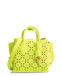 Green-Yellow Leather Handbag