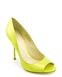 Boutique 9 Delilah Yellow Peep Toe Pumps Heels Shoes Newdisplay