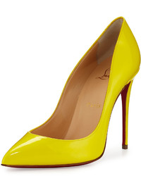 Christian Louboutin Pigalle Follies Patent 100mm Red Sole Pump Sun