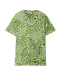 BLOUSE Lovecat Leopard Print Jersey T Shirt