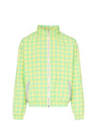Duo Check Print Zipped Jacket