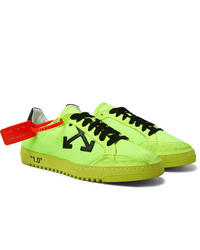 Off-White 20 Distressed Suede Trimmed Mesh Sneakers