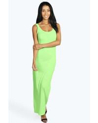 Green-Yellow Maxi Dress