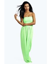 Shelley shirred bandeau maxi dress medium 228352