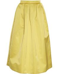 Rochas Duchess Satin Midi Skirt