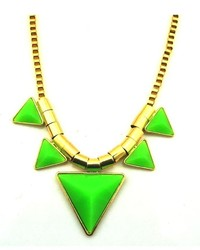 ChicNova Colorful Triangle Statet Necklace