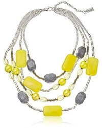 Kenneth Cole New York Lemon Splash Semi Precious Mixed Bead Necklace 18 3 Extender