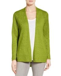 Eileen Fisher Organic Linen Open Front Cardigan