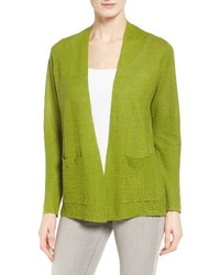 Petite organic linen open cardigan medium 3664685