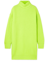 Christopher Kane Oversized Ribbed Cashmere Turtleneck Sweater