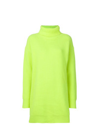 Christopher Kane Ribbed Knit Turtle Neck Cashmere Jumper