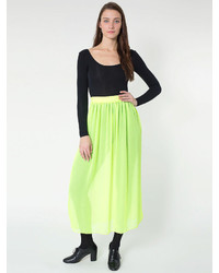 Chiffon single layer full length skirt medium 180666