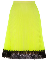 Lace trimmed neon tulle skirt medium 180665
