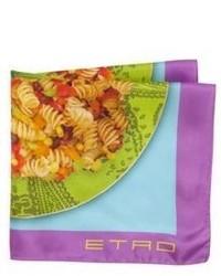 Etro Food Pocket Square
