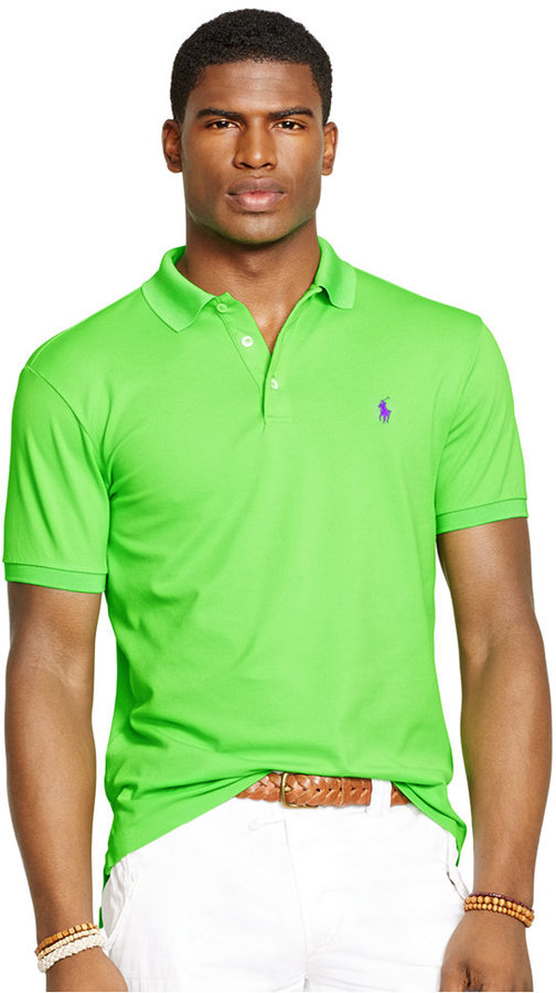 ... Green-Yellow Polos Polo Ralph Lauren Custom Fit Stretch Mesh Polo ...