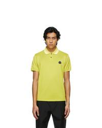 Moncler Yellow Maglia Polo